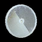 "EMX RELFECTOR-O White Plastic Reflector, 3"" Diameter"